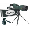 Alpen 15-45x60 Waterproof Compact Spotting Scope, Tripod Car Window Mount, Travel Case 725KIT
