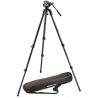 Manfrotto MVH500A Fluid Tripod Head w/ 3 Section Tripod and Carrying Bag