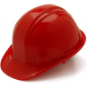 Pyramex Cap Style 4 Point Ratchet Suspension Hard Hat - Red HP14120, Pack of 12
